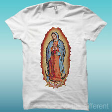 """T-SHIRT """" MADONNA DI GUADALUPE """" BIANCO THE HAPPINESS IS HAVE MY T-SHIRT NEW"""