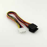 1x 4 Pin IDE Female Molex to Dual SATA Female Y Splitter HDD Power Adapter Cable
