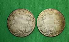 Canada 1906 1907 50 cents silver low grade
