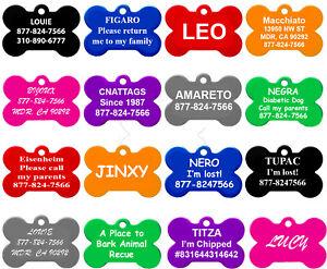 Bone Shape Pet ID Tags, Dog Tags, 8 Colors to Choose, (PREMIUM ALUMINUM)