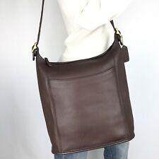 COACH LRG Vintage Brown Leather Legacy Duffle Bucket Hobo #9060