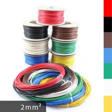 4 Metres 28//0.30mm 25amp 2.0mm2 Yellow Thin Wall Single Core Auto Cable Automotive Motorbike Marine Single Wiring