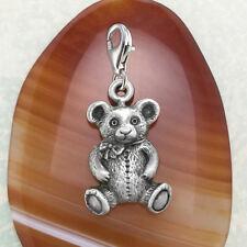 Teddy Bear Pewter Charm
