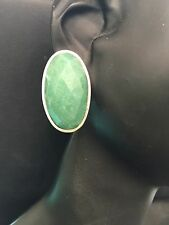 GREEN ONYX  EARRINGS 925 sterling silver