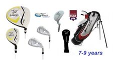 7-9 Years Junior Eagle Graphite Golf Club Set wStand Bag, Woods, Irons & Putter