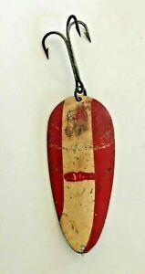 """Vintage Red Devil Red & White Fishing Lure 300 Series Eppinger Co.  5 1/2"""""""