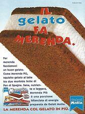 X0833 Gelati MOTTA - Merenda Più - Pubblicità del 1995 - Advertising