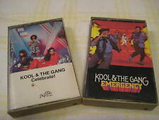Lot of 2 KOOL & THE GANG Celebrate Emergency Cassettes 1980 1984 DeLite 400