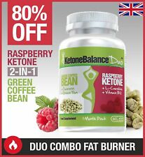 Raspberry Ketone & Green Coffee Bean Fat Burn 2 in 1 Combo KetoneBalance 80% OFF