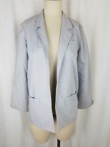 Vintage Prestige of Boston Open Front Swing Wrap Blazer Jacket Womens 10 Gray