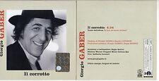 GIORGIO GABER CD single PROMO CARDSLEEVE 1 traccia 2003 IL CORROTTO