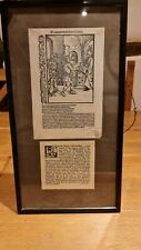 More details for framed original leaf from navis stultifera (ship of fools)