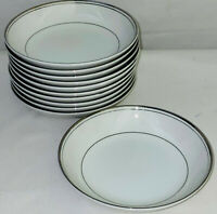 "11 Imperial China *DALTON SINCERITY*WHITE & PLATINUM* 5 3/4"" DESSERT BOWLS"