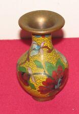 Antique Chinese Qing Dynasty Cloisonne Vase  Plant & Flower Dec