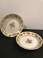 "Pair Of Vintage Gold Castle HOSTESS Soup Bowl 7 3/4"" Made In Japan REG. 60"