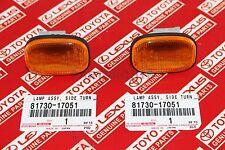 Toyota Supra JZA80 93-98 OEM Genuine Amber Fender Side Marker Lights 81730-17051