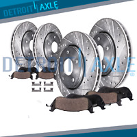 Front & Rear DRILLED Brake Rotors + Ceramic Pads 2010 Ford Edge Lincoln MKX 3.5L