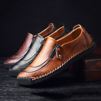 Trendy Men Leather Shoes Slip On Black Shoes Leather Loafers Men Moccasins Shoes