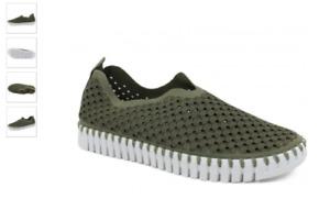 Ilse Jacobsen Tulip 139 Army Green Slip-on Shoe Women's EU sizes 36-41 NEW!!