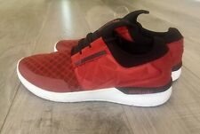 Supra Flow Run Evo 2 Men's Burgundy/Dark Red Mesh & Nubuck Trainers Shoes Sz 12