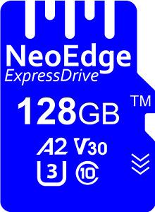 Australian NeoEdge Micro SD memory card 128GB 8K A2, U3, V30, UHS-I, C10, 99MB/s