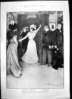 Old Play Liars Criterion Theatre Members Irish Land Acts Dublin 1897 Victorian