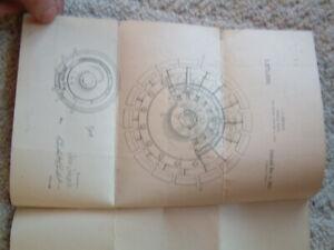 Patent for 1921 automobile Wheel Us Patent Office 1920's Automobilia