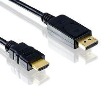 3m Adapter Kabel Display Port auf HDMI / DP Konverter Kabel