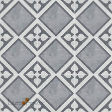 Encaustic Manhattan Grey Matt Porcelain Floor & Wall Tile 200x200