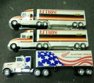 3 Nylint Tractor Trailers Plastic& Metal El Tigre Milwaukee Electric Tools