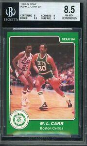 1983-84 Star Basketball #29 M.L. Carr SP Boston Celtics BGS 8.5 NM-MT+