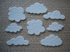 8 edible  clouds for cake / cupcake decorations