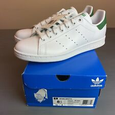 ADIDAS STAN SMITH MENS US 8.5 WHITE/GREEN Authentic New In Box M20324 SUPERSTAR