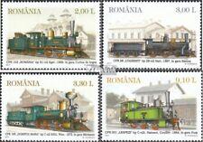 Roemenië 6551-6554 (compleet Kwestie) MNH 2011 Stoomlocomotieven