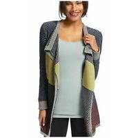 CAbi Colorblock Blanket Cardigan Open Front Sweater M