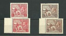More details for kgv1924 &  1925 british empire exhibition  sets mint  not  hinged