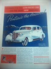1938 Pontiac Silver Streak Sedan ORIGINAL AD - Great Garage Decor