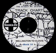 Atchison Topeka & Santa Fe 50 Wellington to Clovis Track Chart PDF Pages DVD #10