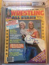 Hulk Hogan & Joan Rivers Rare Autograph Signed Wrestling All Star Beckett Wwf 85