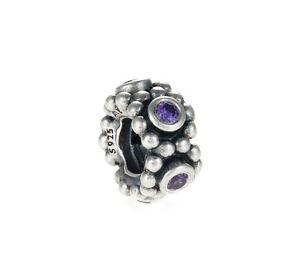 Genuine Pandora Silver Spacer Circle Game Purple Cubic Zirconia 791122ACZ