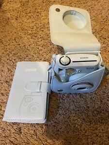 FujiFilm Instax Mini 7s Instant Film Light Blue Camera With Case Matching Album