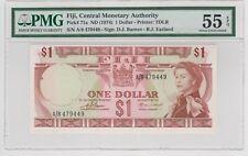 Fiji 1 Dollar 1974 P 71a-PMG 55 A/8 479449 Sig. Barnes - Erland.