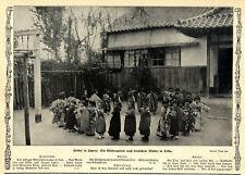 Fröbel in Japan: Muster-Kindergarten in Tokio Historische Aufnahme 1912