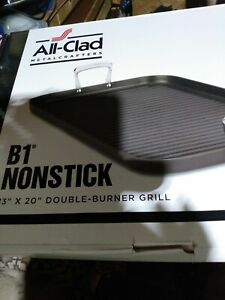 All Clad Metal Crafters B1 Nonstick 13x20 Double Burner Grill