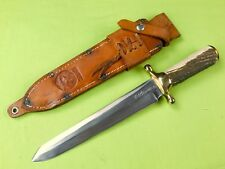 """Vintage Custom Made """"RUDY"""" R.H. RUANA Model 42D Spear Point Bowie Stag Knife"""