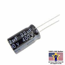 20pcs 22uF 400V 13x20mm Radial Electrolytic Capacitors US Seller CAP0054-20