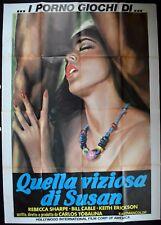 manifesto 4FG I PORNO GIOCHI DI QUELLA VIZIOSA DI SUSAN SHARPE CABLE EROTIC SEXY