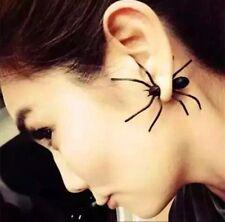 Spider Earrings, Pierced Earrings, Great For Halloween