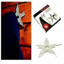 NINJA COAT HOOK Shuriken Novelty Throwing Star Dart Metal Clothes Wall Hanger