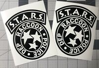 PAIR STARS Raccoon City Police Dept Resident Evil Decal UR Color Choice Sticker
